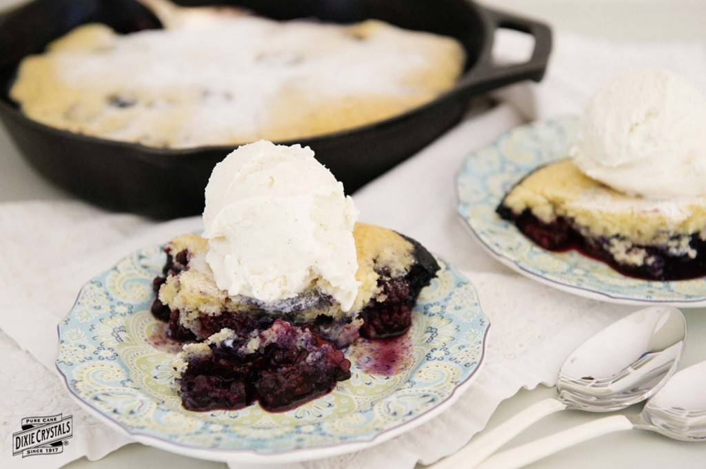 cooking with cast iron Blackberry Blueberry Pandowdy