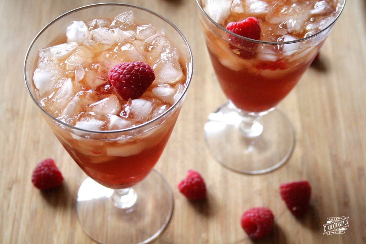 raspberry ginger sweet tea