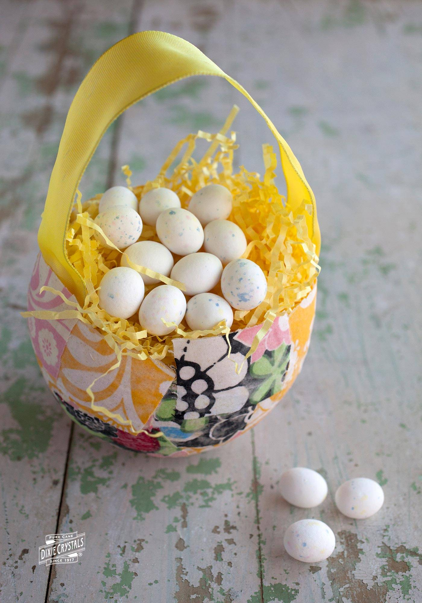 Fabric Squares Easter Basket