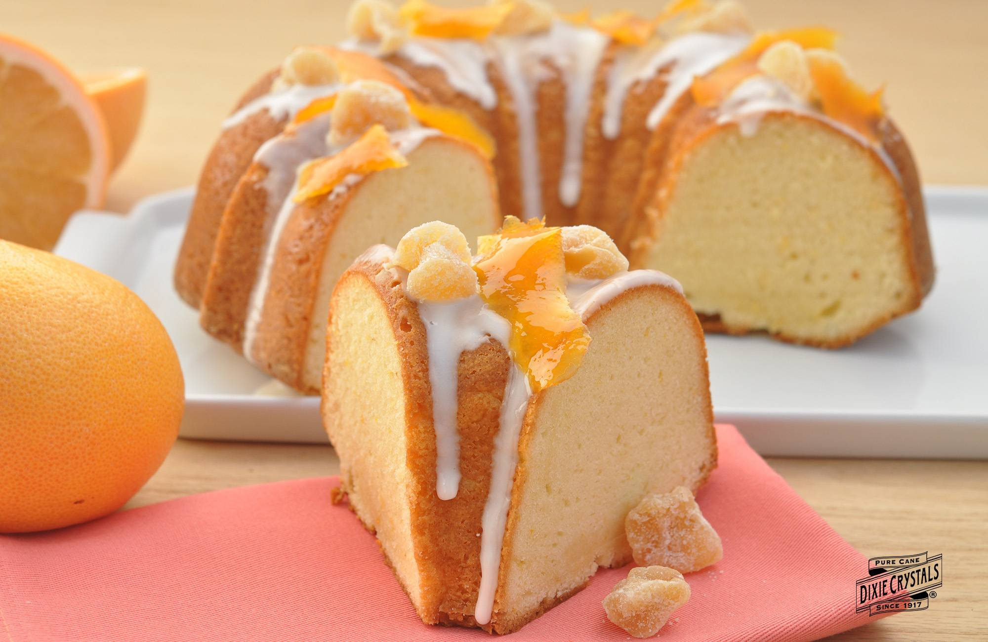 Ginger and grapefruit pound cake