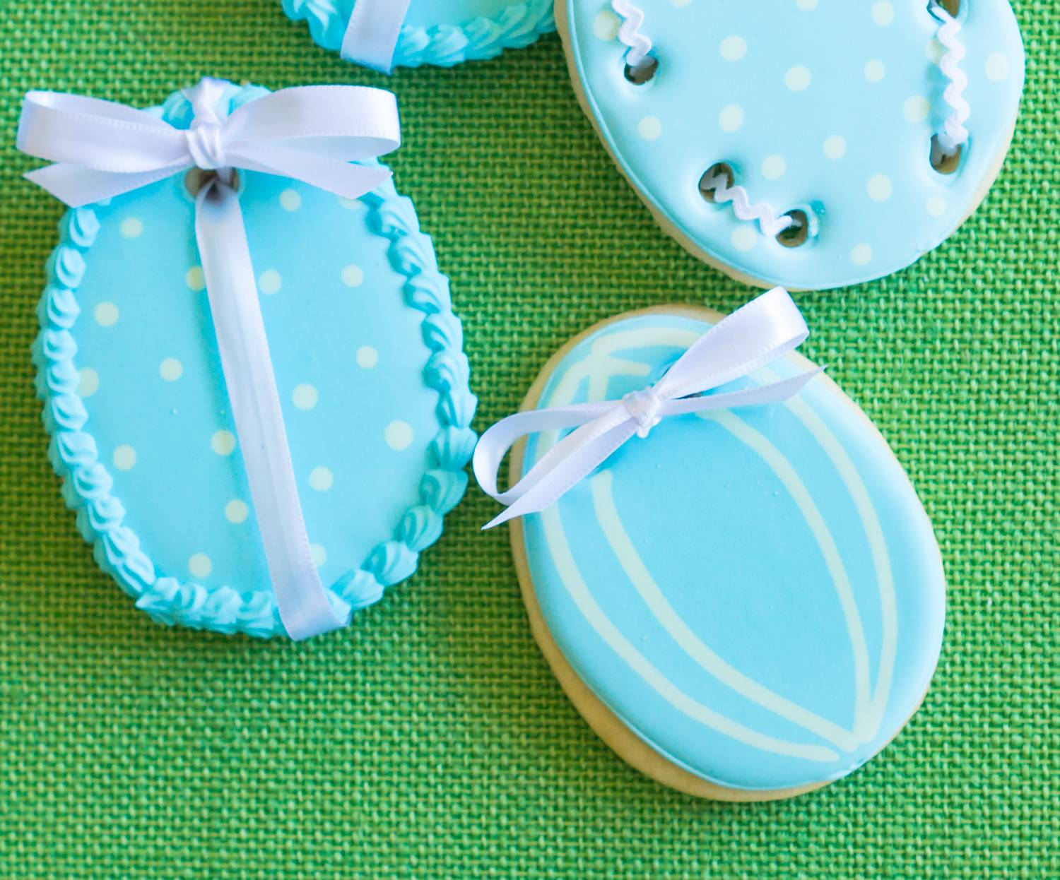 Ribbon Easter Egg Cookies