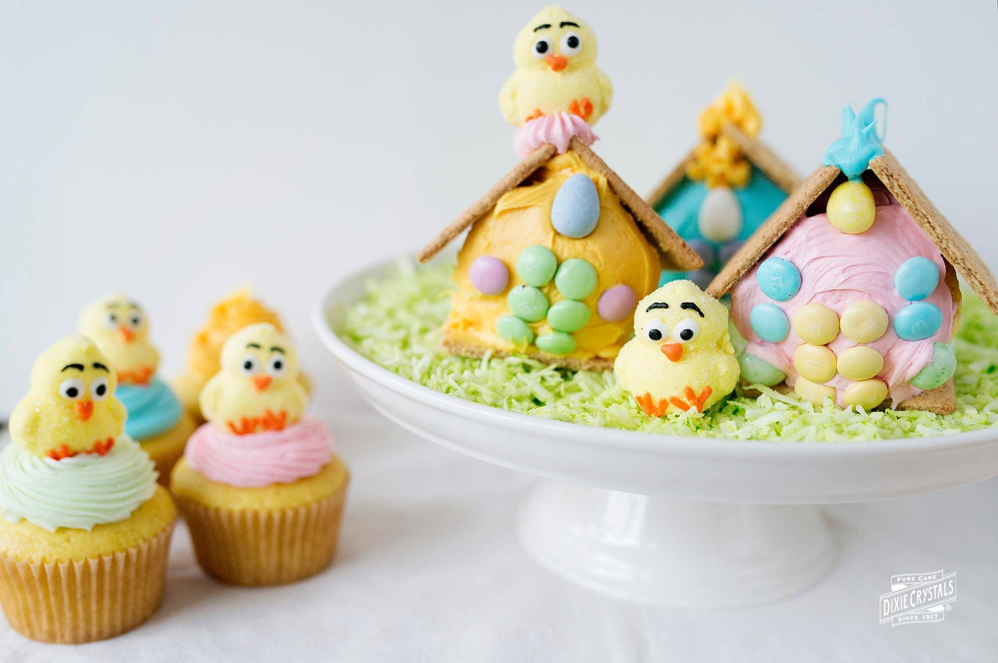 Chick Cottage Cupcakes