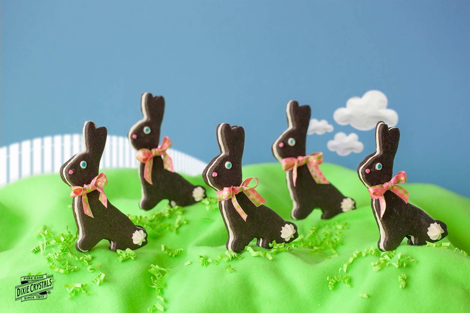 Chocolate Sandwich Bunny Cookies