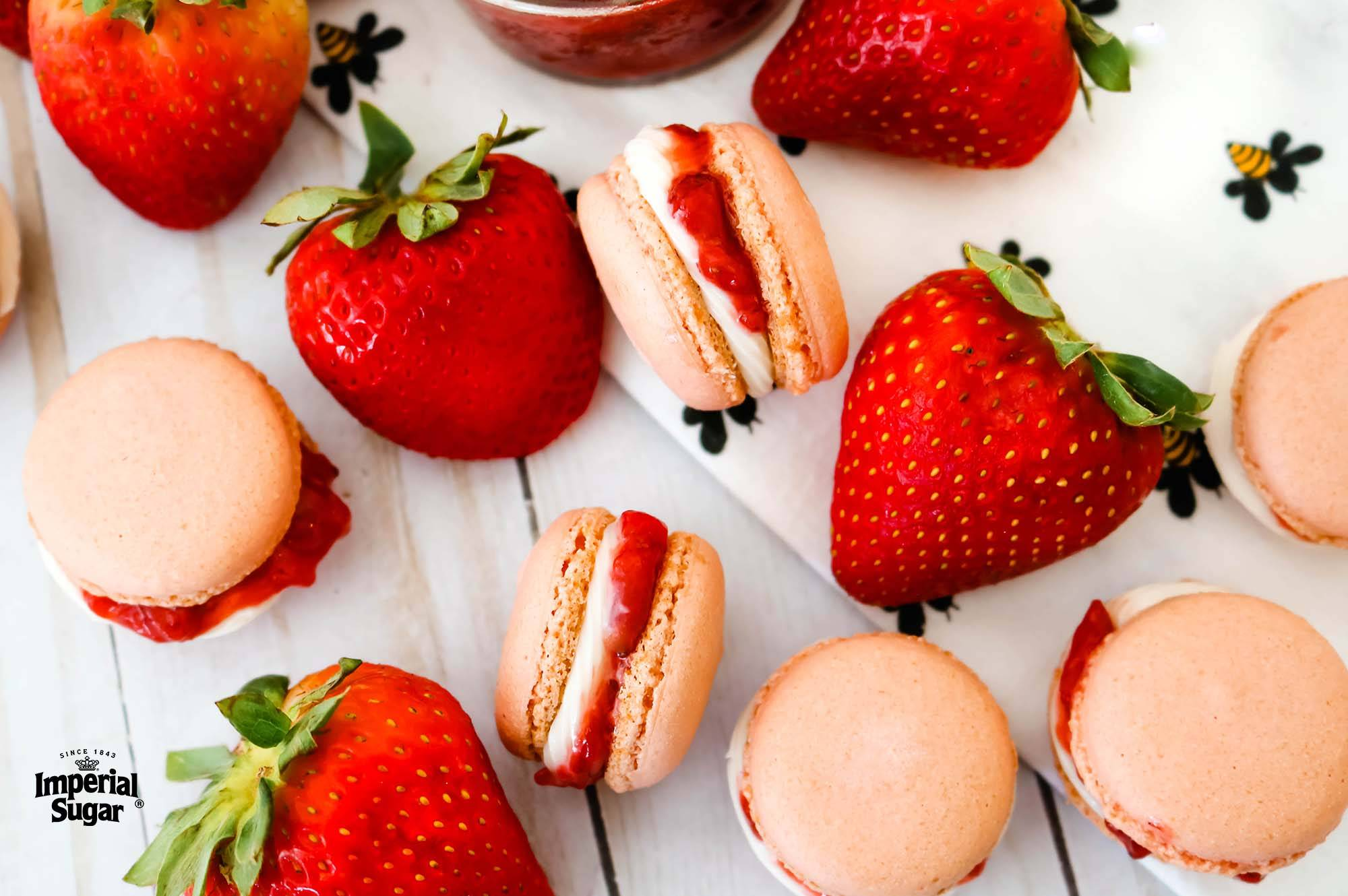 Strawberry And Cream Macarons Dixie Crystals