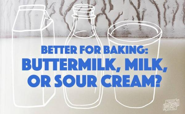 Baking with Buttermilk, Milk and Sour Cream