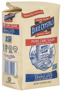 Dixie Crystals 4lb Extra Fine Granulated Pure Cane Sugar Bag