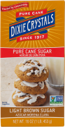 Dixie Crystals Light Brown Sugar 1-LB Box