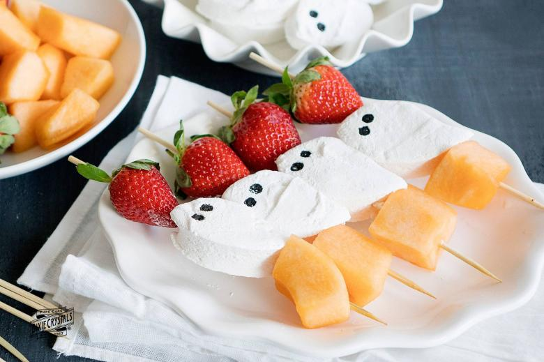Marshmallow Ghost Kebobs