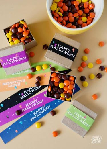 Halloween Candy Treat Box Wrappers