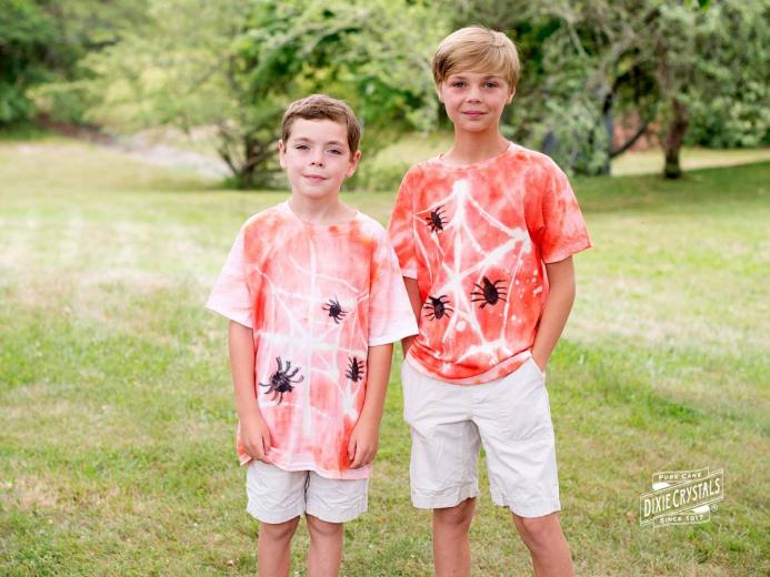 Spider Web Tie-Dyed Shirts