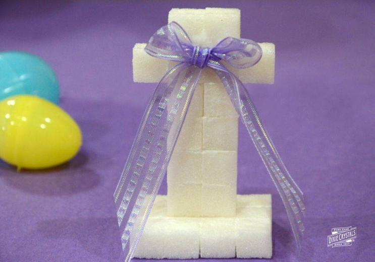 Sugar Cube Easter Cross