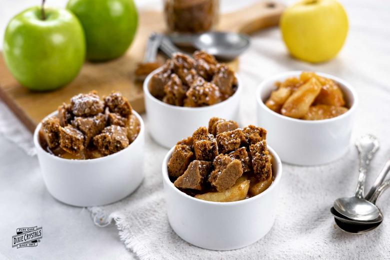 Apple Gingerbread Crumble