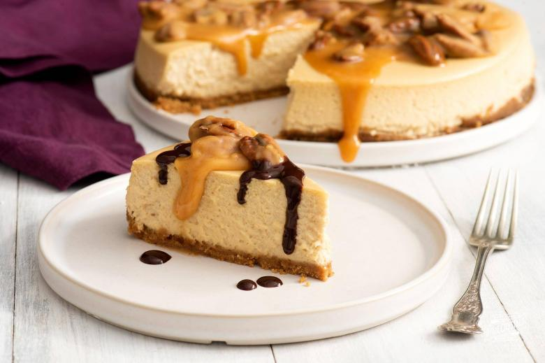 Cappuccino Cheesecake With Pecan Caramel