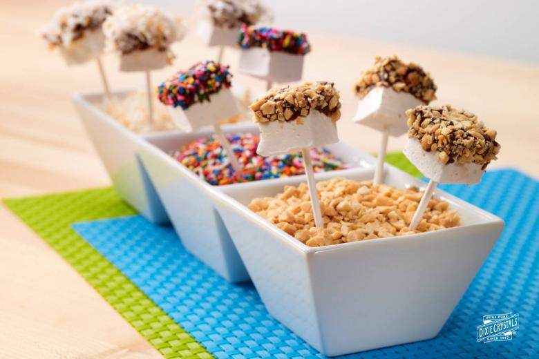 Chocolate Covered Marshmallow Pops