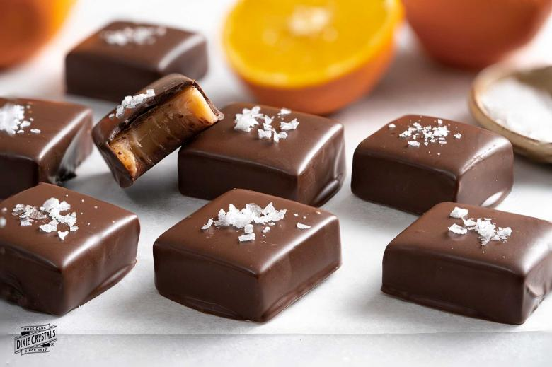 Chocolate Orange Caramels