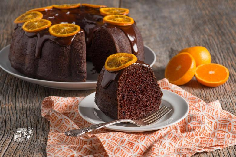 Chocolate Spice Mandarin Orange Pudding Cake