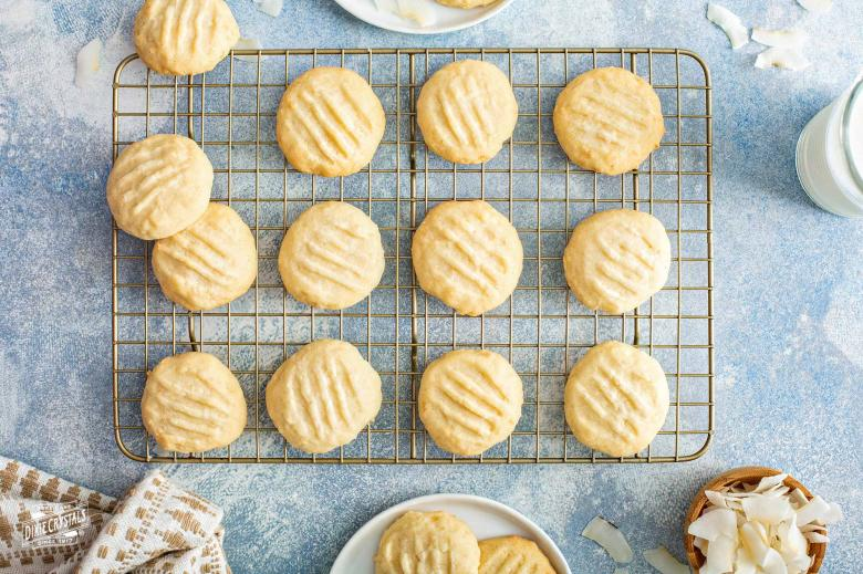 Coconut Whipped Shortbread Cookies