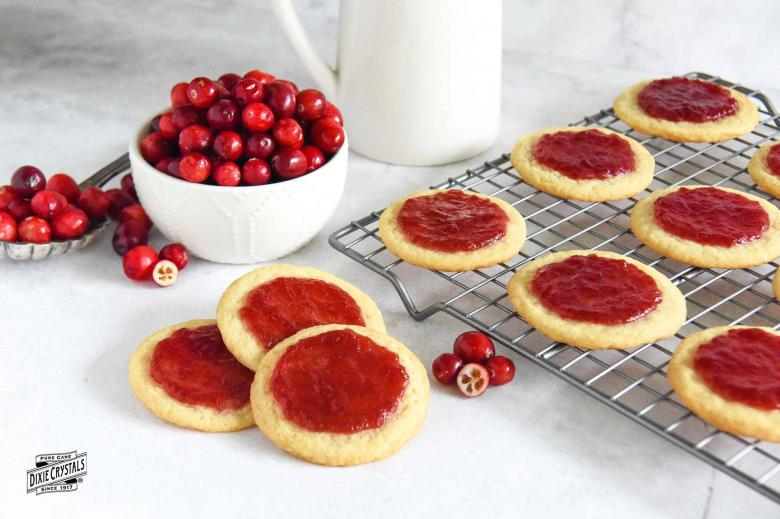 Eggnog Cookies With Cranberry Glaze