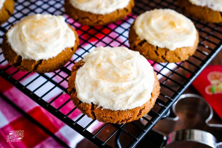 Gingerbread Cookies with Eggnog Frosting