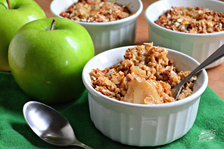 Granny Apple Surprise with Caramel Candied Granola