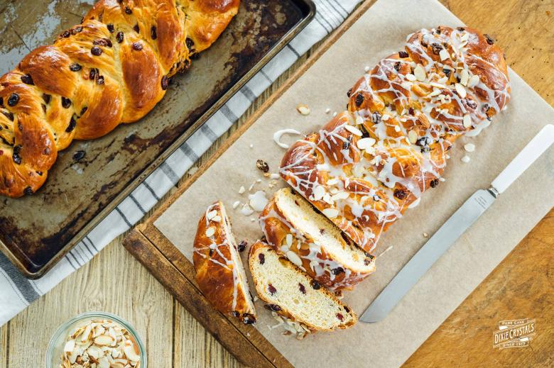 Hot Cross Buns Braided Loaf