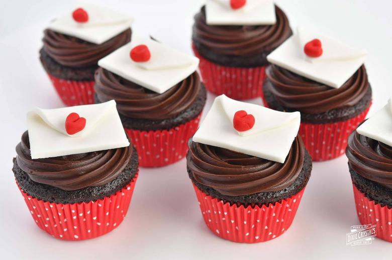 Love Letter Raspberry Chocolate Cupcakes