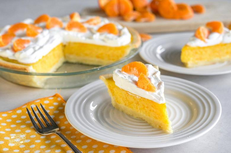 Orange Coconut Cream Pie