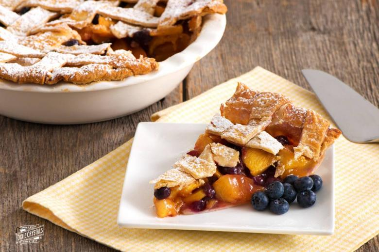 Peach Blueberry Pie Dixie Crystals