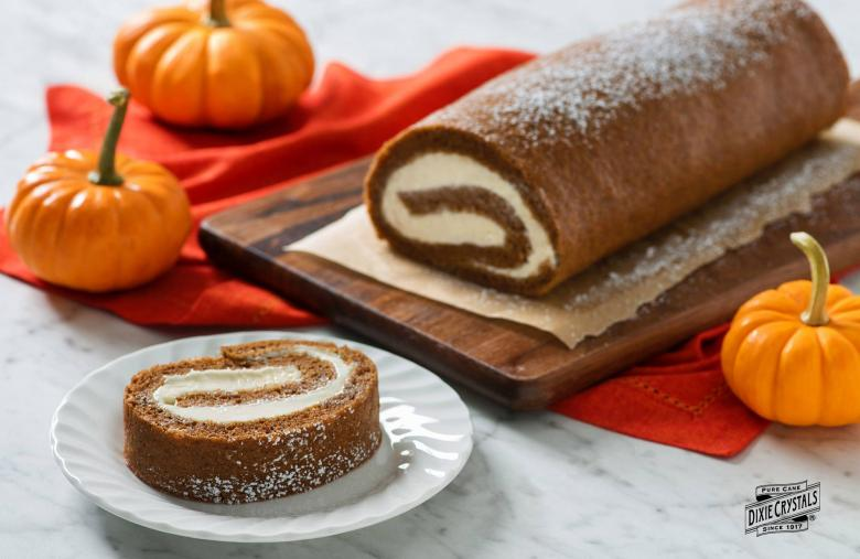 Pumpkin Cream Cheese Frosting Roll