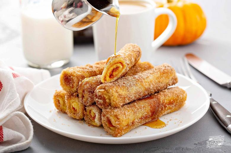 Pumpkin French Toast Rollups