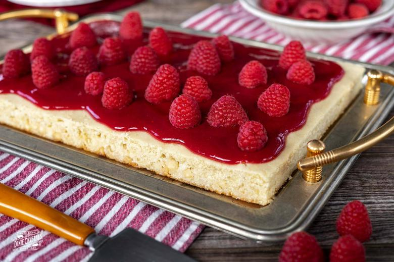 Raspberry White Chocolate Sheet Cake