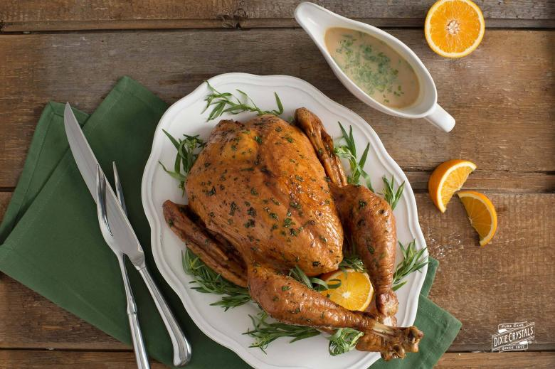 Baked Turkey with Tarragon Orange Sauce