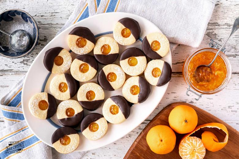Chocolate Dipped Orange Marmalade Cookies