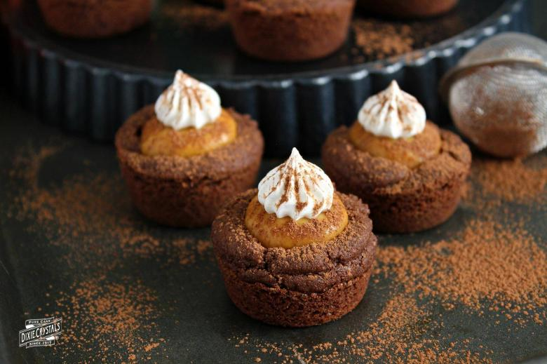 Chocolate Pumpkin Cookie Cups