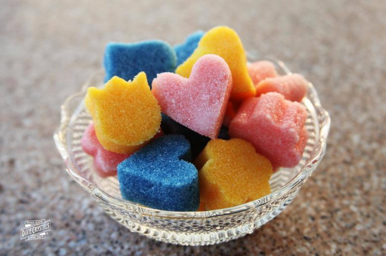 Colored Shaped and Flavored Sugar Cubes | Dixie Crystals