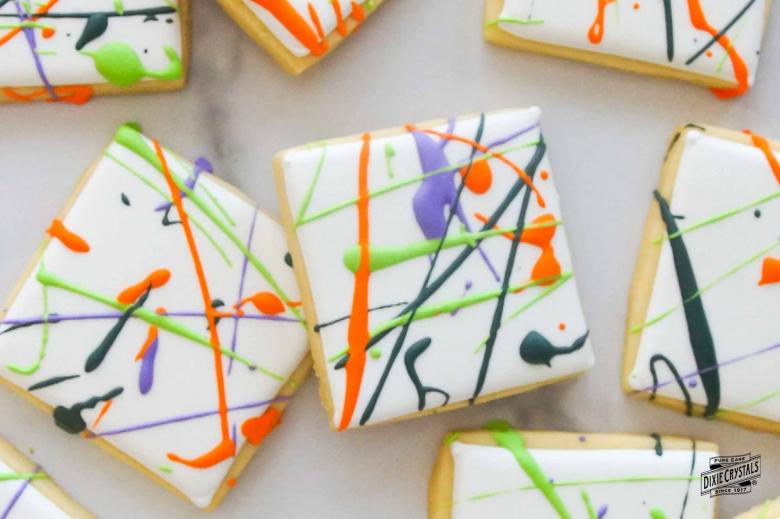 Halloween Splatter Paint Cookies