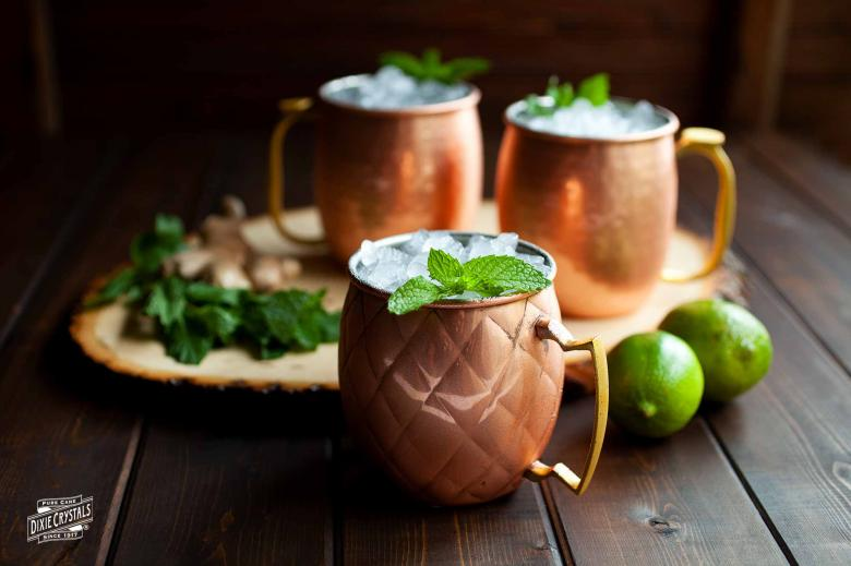 Moscow Mule with Ginger Syrup