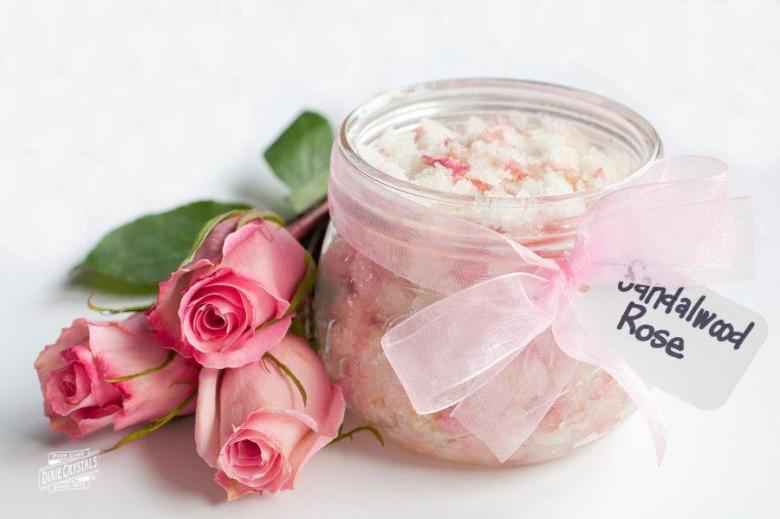 Sandalwood Rose Sugar Scrub