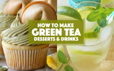 how to make green tea desserts and drinks