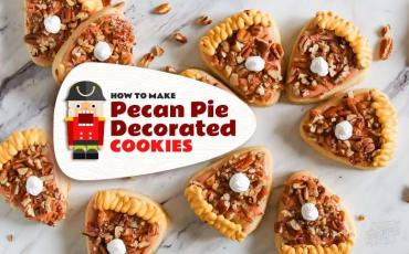Make Pecan Pie Decorated Cookies