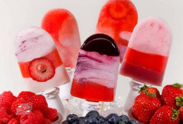 3 Berry Yogurt Popsicles