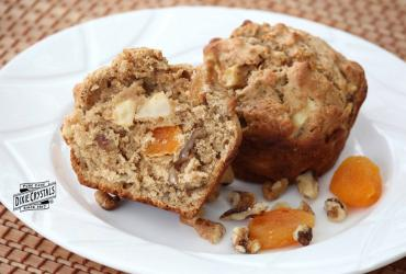 Apple Apricot Walnut Muffins