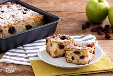 Apple Sun Dried Cherry Coffee Cake