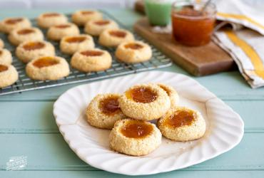 Apricot Pecan Coconut Thumbprints
