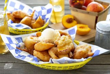 Beer Batter Fried Peaches