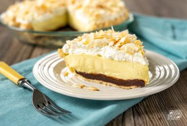 Black Bottom Coconut Cream Pie