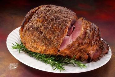Brown Sugar Rosemary Mustard Glazed Ham