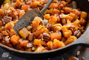 Butternut Squash with Caramelized Onions