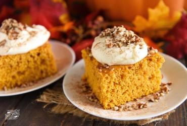 Chai Pumpkin Cake with Browned Butter Frosting