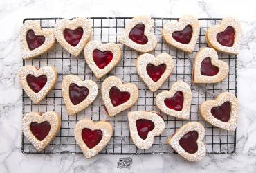 Cherry Linzer Cookies